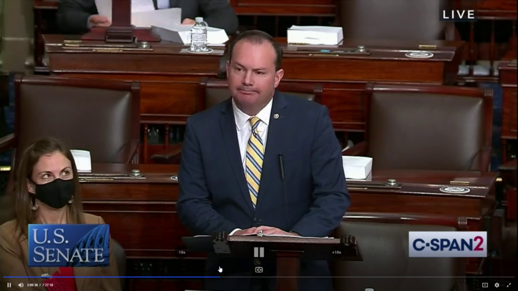 WATCH: Lee blasts 'anti-American' groups: 'The mob hates America on America's dime'