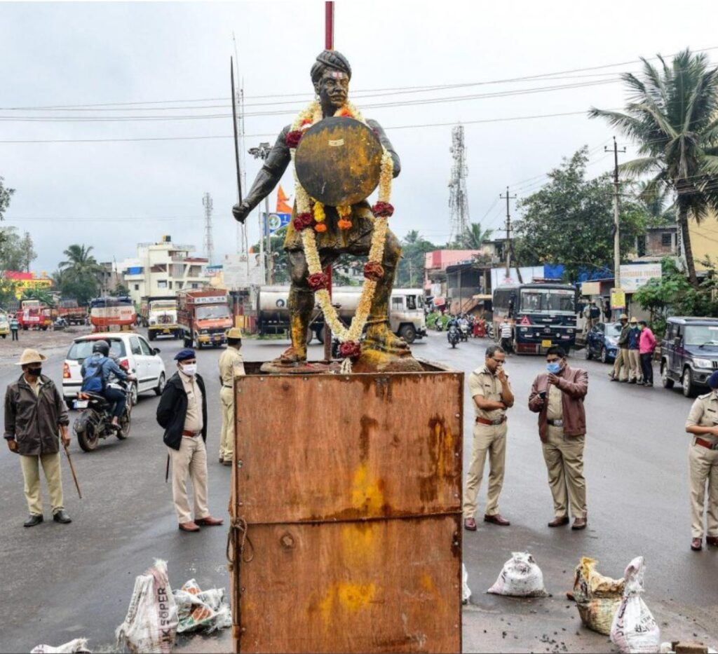 Warrior Statue Sparks Protests in South Indian Town
